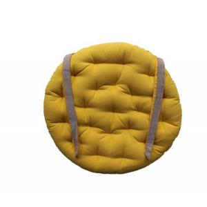 Galette de chaise ronde 40cm jaune