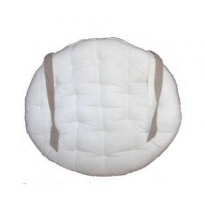 Galette de chaise ronde 40cm beige blanche