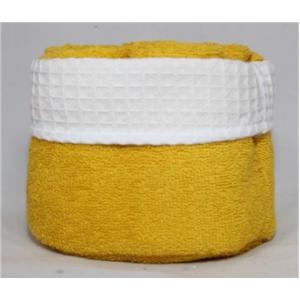 Panier de 6 serviettes jaunes moutarde
