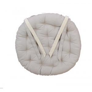 Galette de chaise ronde 40cm taupe beige