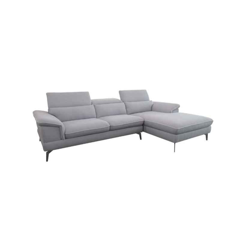 Canapé d'angle Sheindel taupe angle gauche