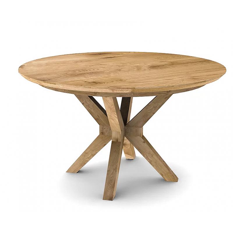 Table à manger ronde extensible chêne clair D.130 cm