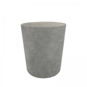 Corbeille à papier nubuck gris D25.5 x H28cm