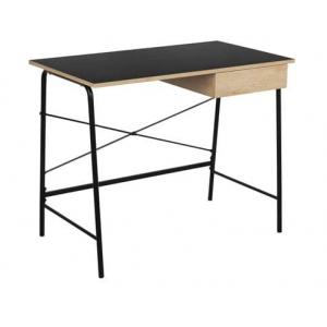 Bureau noir et bois clair L.100 x l.50 x H.75 cm