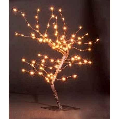 Arbre lumineux décoratif 100 Micro LED H.45 cm