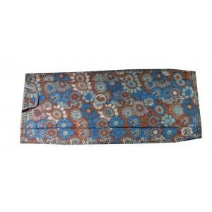 Masque H/F en tissu fleurs bleues et marrons normes AFNOR