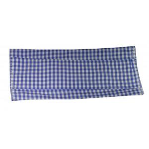 Masque H/F en tissu vichy bleu normes AFNOR