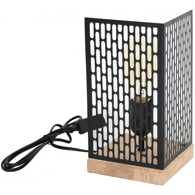 Lampe à poser design Nina carrée noire
