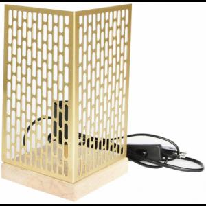 Lampe à poser design Nina carrée dorée