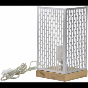Lampe à poser design Nina carrée argentée