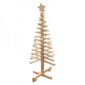 Sapin de Noël en bois amovible H.120 cm
