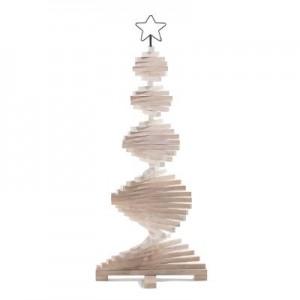 Sapin de Noël en bois amovible H.113 cm