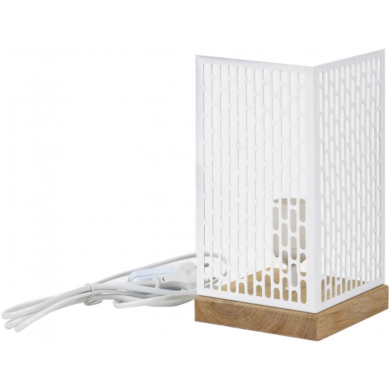 Lampe à poser design Nina carrée blanche