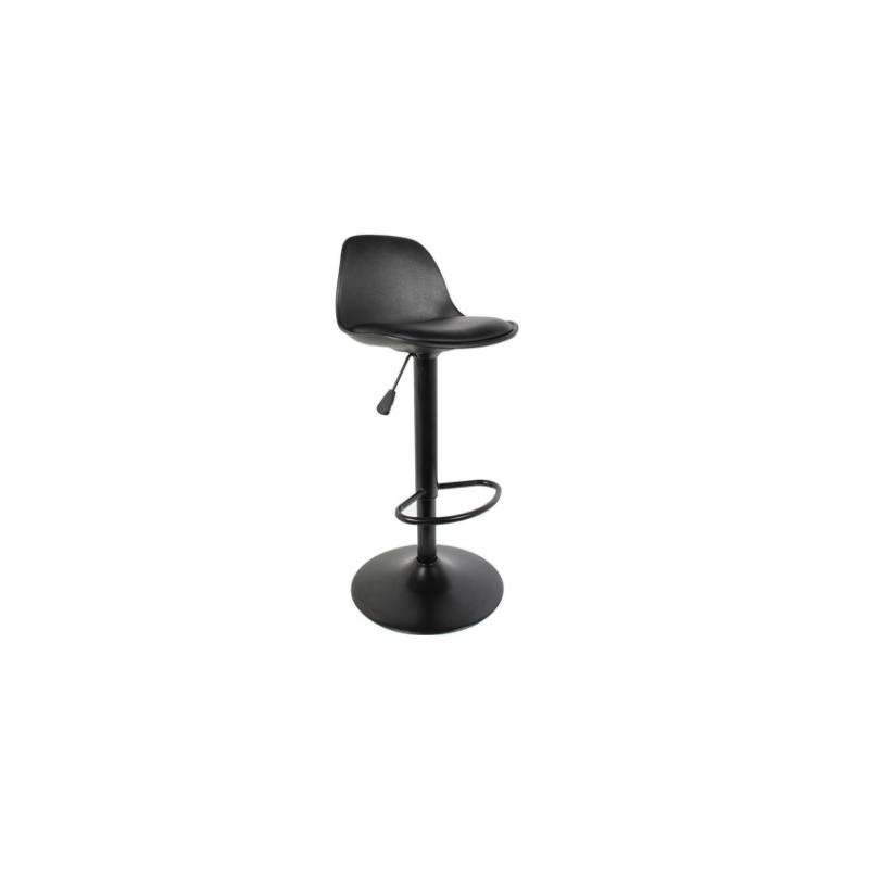 Tabouret de bar noir de H.83 à H.103 cm