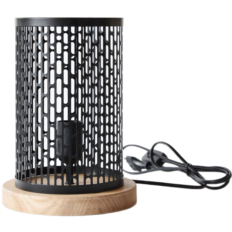 Lampe à poser design Nina ronde noire
