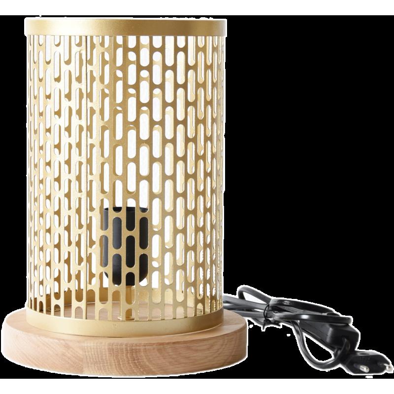 Lampe à poser design Nina ronde dorée