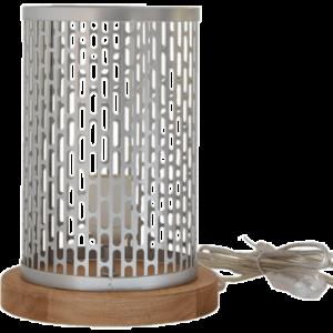 Lampe à poser design Nina ronde argentée