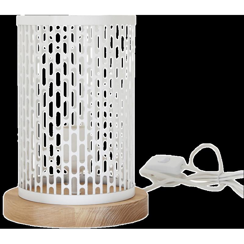 Lampe à poser design Nina ronde blanche