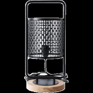 Lampe à poser design Nina cerclée noire