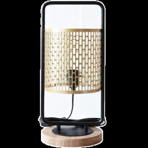 Lampe à poser design Nina cerclée dorée