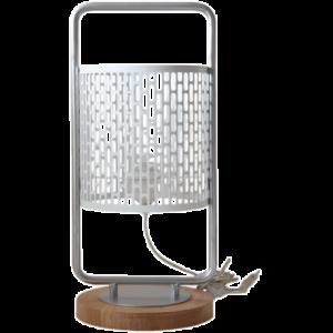 Lampe à poser design Nina cerclée argentée
