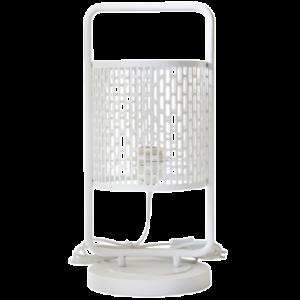 Lampe à poser design Nina cerclée blanche