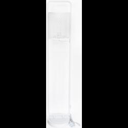 Lampadaire design Nina cerclé blanc