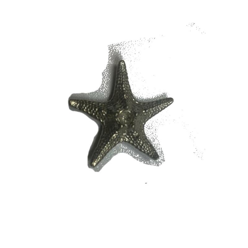 Statuette étoile de mer en étain