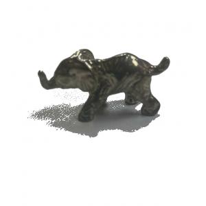 Statuette éléphant en étain