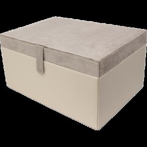 Boîte de rangement Nubuck beige 35cm