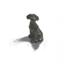 Statuette chien en étain