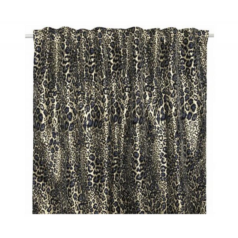 Rideau léopard L.145 x H.250cm