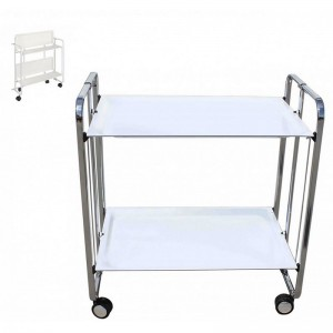 Table pliante blanche L.65xl.43xH.71cm