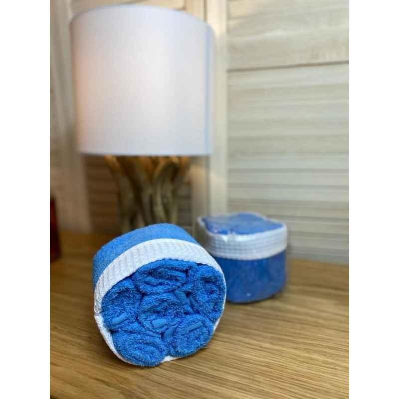 Panier de 6 serviettes bleues