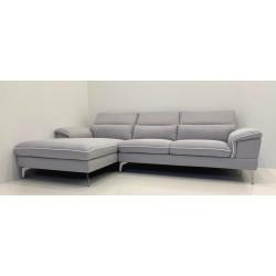 Canapé d'angle 3 places gris clair