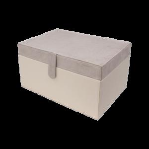 Boîte de rangement Nubuck beige 30cm
