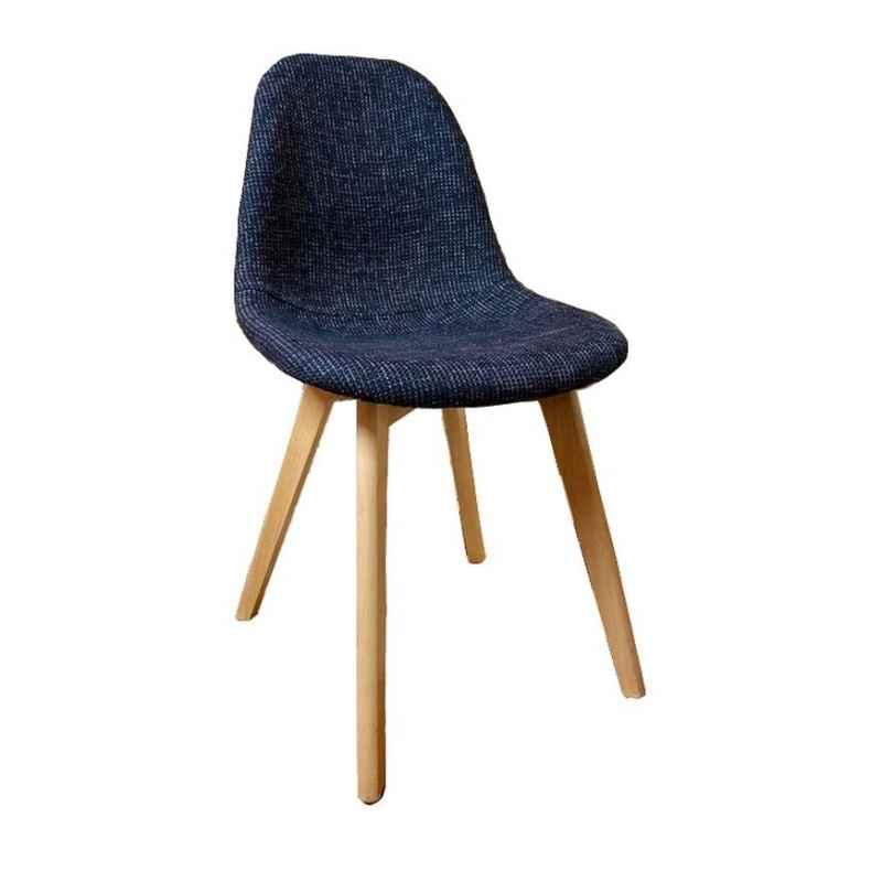 Chaise scandinave en tissus noir