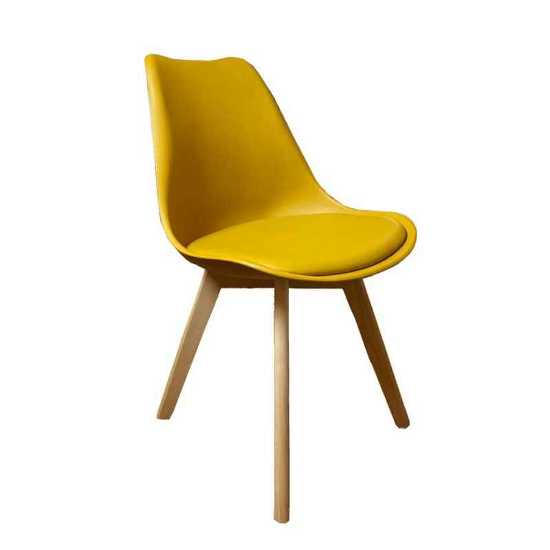 Chaise scandinave moutarde