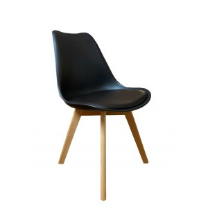 chaise scandinave noir