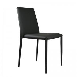 Chaise en cuir noir