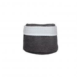 Panier de 6 serviettes anthracites
