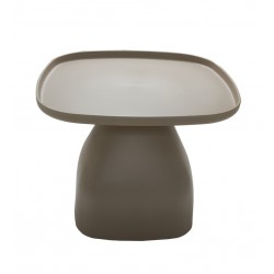 Table basse de jardin carré Exotic Cuba beige