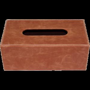 Boîte à mouchoirs rectangle camel