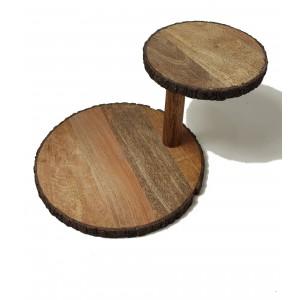 Serviteur modulable en bois pièce unique