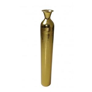 Vase en acier martelé dorée pièce unique GM