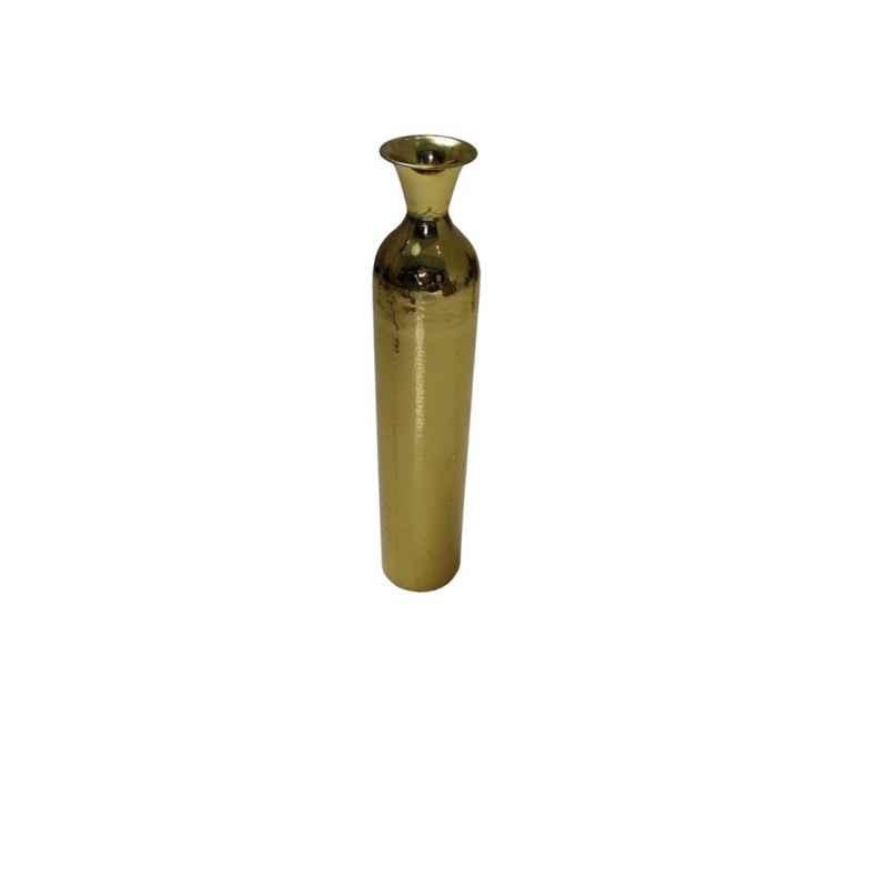 Vase en acier martelé doré pièce unique pm