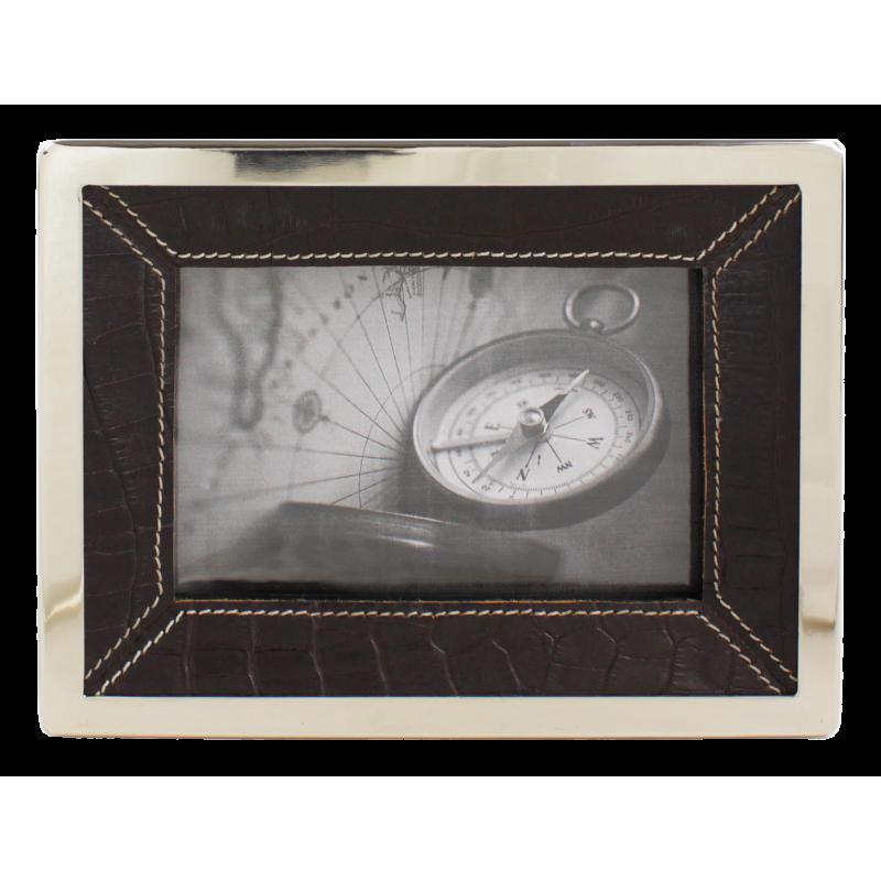 Cadre photo Celtique cuir motif croco choco PM