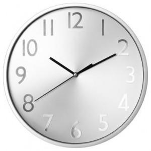 Horloge fond métal D.30 cm