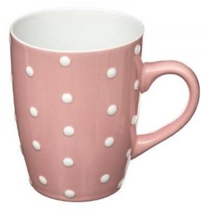 Mug rond pois rose 32cl