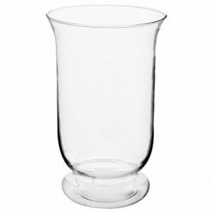 Vase évasé en verre transparent D.15.5 x H.24 cm